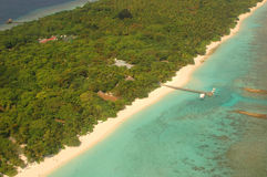 arial海岛视图 图库摄影