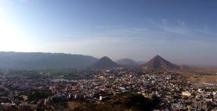 Arial πανοραμικό της πόλης Pushkar στο Rajasthan Στοκ φωτογραφίες με δικαίωμα ελεύθερης χρήσης