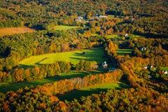 Arial-Ansicht des Falles in Neu-England Lizenzfreie Stockfotos