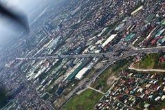 Arial Ansicht vom Flugzeug Lizenzfreie Stockfotografie