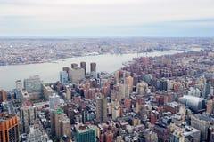 arial Brooklyn miasta nowy linia horyzontu widok York Zdjęcie Stock