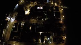 Arial footage of the city at night Stock Photography