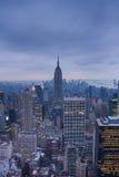 arial ny nattsikt york Royaltyfri Foto
