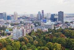 Arial panorama of Rotterdam Stock Photo