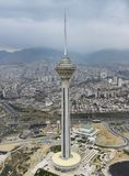 Arial photography - Milad tower. Tehran - Iran - Hasselblad 39II - lens 55-100 Royalty Free Stock Image