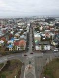 Arial sikt av den Reykjavic staden Royaltyfri Bild
