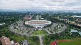 Arial siktsåskådarläktare i 700. årsdagsportstadion på Chia Royaltyfri Foto