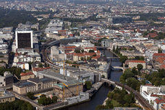 Arial view Berlin Royalty Free Stock Photography
