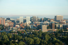 Arial view of city 2. Arial view of Ottawa city, sky and urban area Royalty Free Stock Image