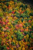 Arial view of Fall in New England. Arial view of the colorful Fall countryside in New England.  Nature in full splendor Stock Photography