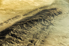 Arial View of Desert Royalty Free Stock Photo