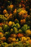 Arial view of Fall in New England. Arial view of the colorful Fall countryside in New England.  Nature in full splendor Stock Photos