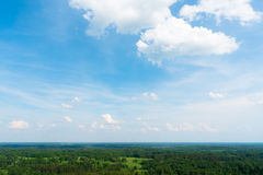 Arial view of forest Royalty Free Stock Images