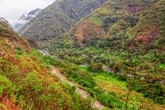Arial View Of Green Fields, Intag, Ecuador Stock Photos
