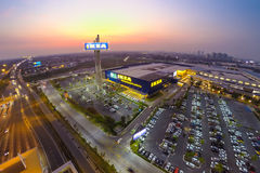 Arial view of IKEA THAIALND Royalty Free Stock Photos