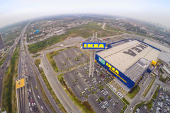 Arial view of IKEA THAIALND Royalty Free Stock Image