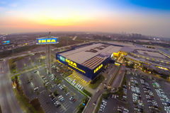 Arial view of IKEA THAIALND Stock Image