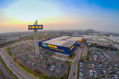 Arial view of IKEA THAIALND Stock Images