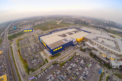 Arial view of IKEA THAIALND Stock Photo