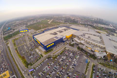Arial view of IKEA THAIALND Royalty Free Stock Images