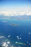 Arial view of island Stock Photos