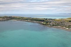 Arial view of Kaikoura, New Zealand Royalty Free Stock Image
