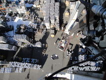 Arial view of kegs Stock Photography