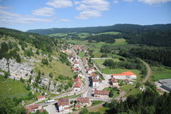 Arial View Of La Cluse-et-Mijoux Stock Photo