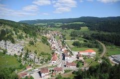Arial View Of La Cluse-et-Mijoux Stock Photo