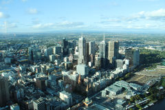Arial view of Melbourne from Skydeck 88,  Australia Royalty Free Stock Photography