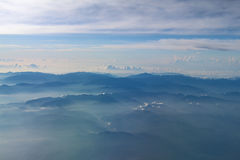 Arial view of Mount from airplane Stock Images