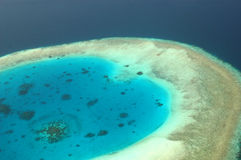 Arial View of  reef. Royalty Free Stock Photography