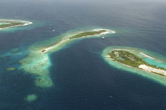 Arial view of a resort island Stock Photography