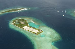 Arial view of a resort island Royalty Free Stock Photo