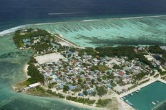 Arial view of a resort island Stock Photo