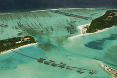 Arial view of a resort island Royalty Free Stock Image