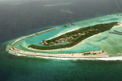 Arial view of a resort island Royalty Free Stock Images