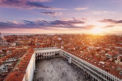 Arial view of San Marco Square stock image