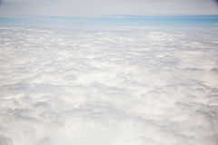 Arial view of sea cloud Stock Images