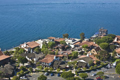 Arial view of Seaport Village in San Diego, CA US. Royalty Free Stock Photography