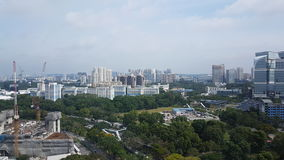 Arial view of Singapore landscape royalty free stock image