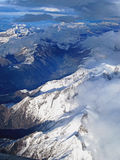 Arial View of the Swiss Alps stock image
