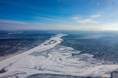 Arial view of yakutia, Russia. Arial view of yakutia, sakha. Russia Stock Image