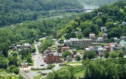 Arial widok miasteczko Obraz Royalty Free