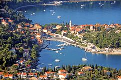 Arial widok miasteczko Cavtat 2 Fotografia Royalty Free