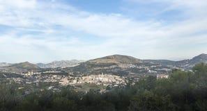 Arial widok Parcent, Hiszpania Zdjęcia Royalty Free