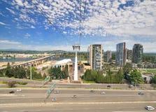 Arial widok Portlandzki miasto Obrazy Royalty Free