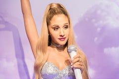 Ariana Grande, γλυπτό κεριών, η κυρία Tussaud Στοκ Φωτογραφίες