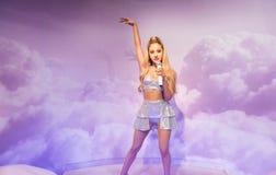 Ariana Grande, γλυπτό κεριών, η κυρία Tussaud Στοκ Εικόνες