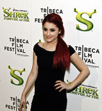 Ariana Grande. NEW YORK - APRIL 21: Actress Ariana Grande attends the 'Shrek Forever After' premiere during the 9th Annual Tribeca Film Festival at the Ziegfeld stock images